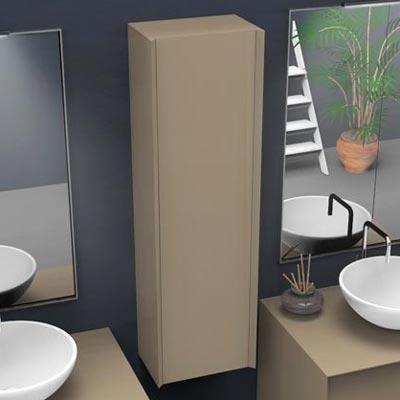 Wall hung bathroom wall cabinet unit H 117 cm