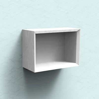 Bathroom open shelf unit