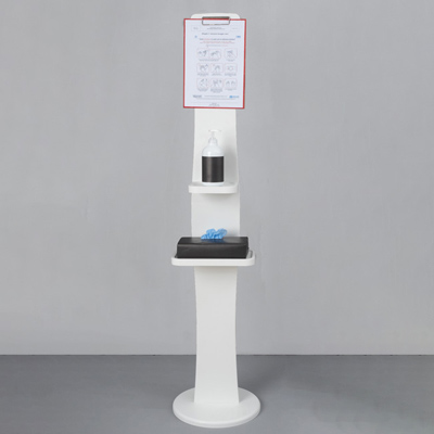 Colonnina porta dispenser in PVC