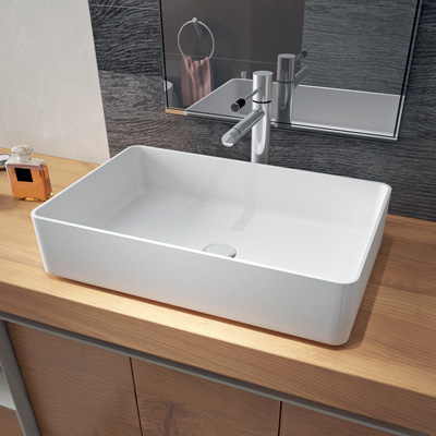 Rectangluar countertop basin
