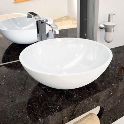 Round countertop basin, diameter 40 cm