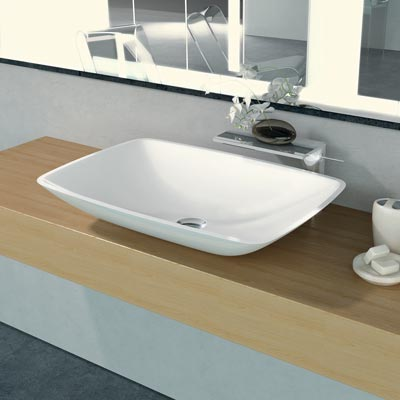 Rectangluar shape countertop basin