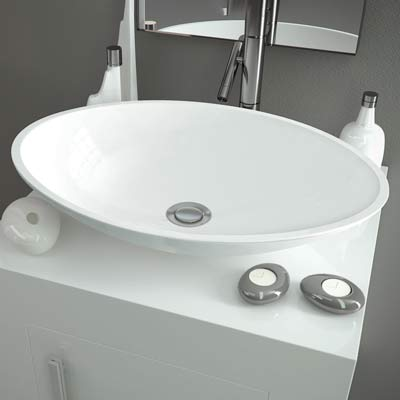 Oval coutertop washbasin