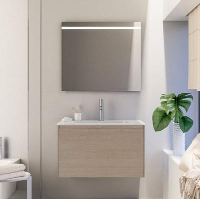 Bathroom cabinet with 1 drawer and inset basin