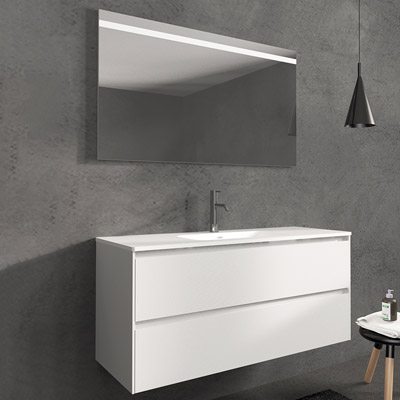 Wall hung 2 drawers vanity unit