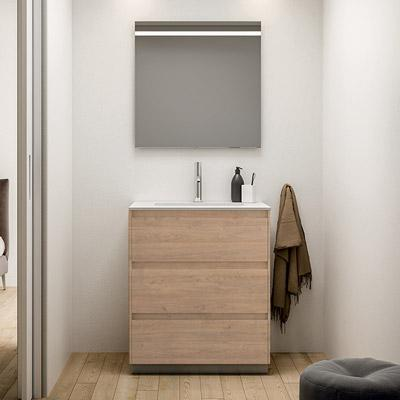 3 drawers bathroom cabinet with mirror