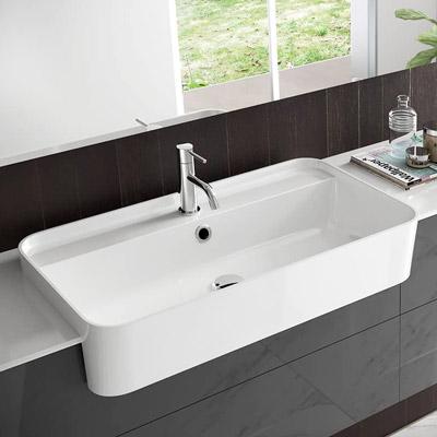 lavabo da semi incasso bianco