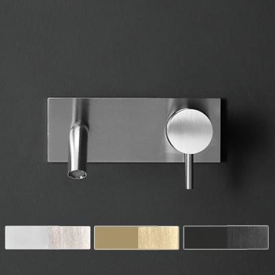 Miscelatore lavabo da parete in acciaio inox