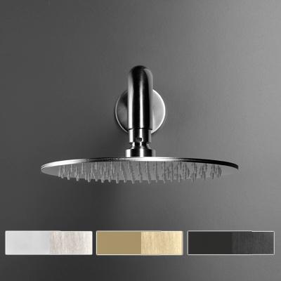 Soffione doccia cilindrico in acciaio inox