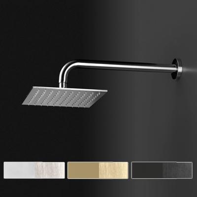 Soffione doccia quadrato in acciaio inox