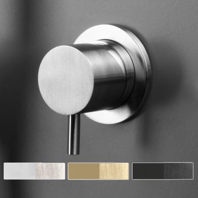 Miscelatore per doccia e vasca a incasso in acciaio inox