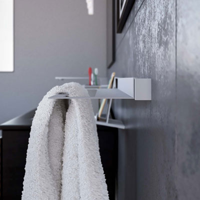 Aluminum towel holder