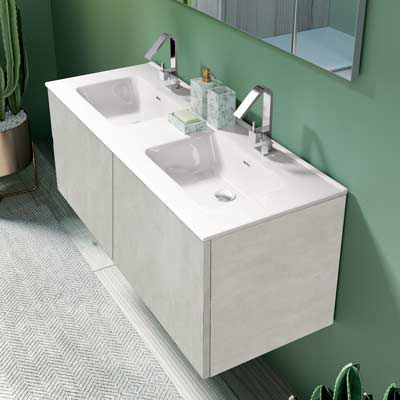 Mobile con lavabo a doppia vasca