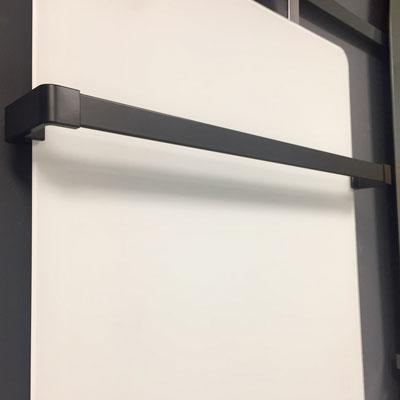 Chrome towel rail for radiators
