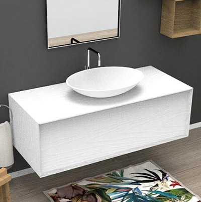 Bathroom vanity with jumbo drawer for countertop basin