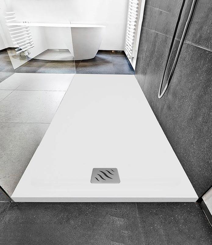 Piatto doccia rettangolare 80x100 colore bianco finitura ...