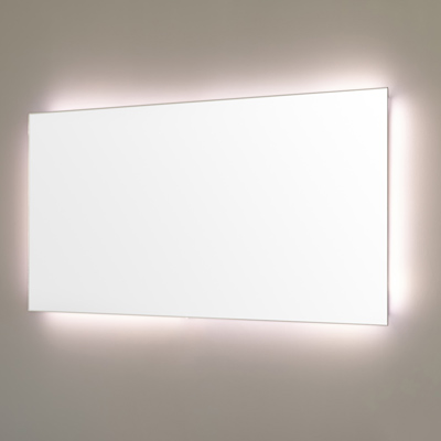 Bathroom mirror with integrated led light